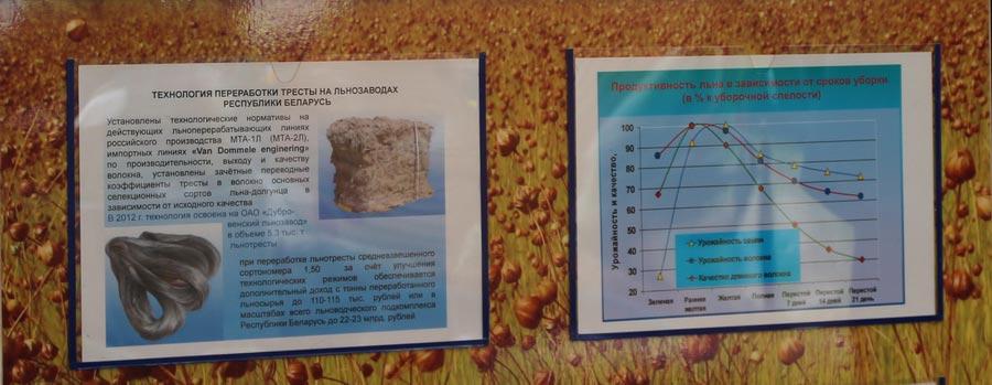 Технология переработки тресты на льнозаводах Республики Беларусь. Продуктивность льна в зависимости от сроков уборки