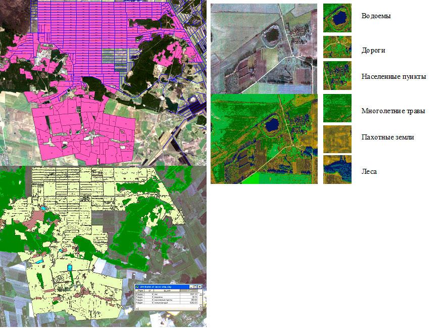 Экспликации территории тестового объекта Пружанский стационар по наземным данным и данным дистанционного зондирования