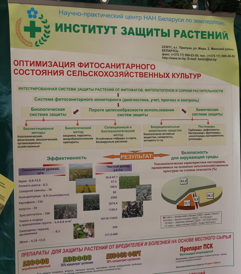 Институт защиты растений. Оптимизация фитосанитарного состояния сельскохозяйственных культур