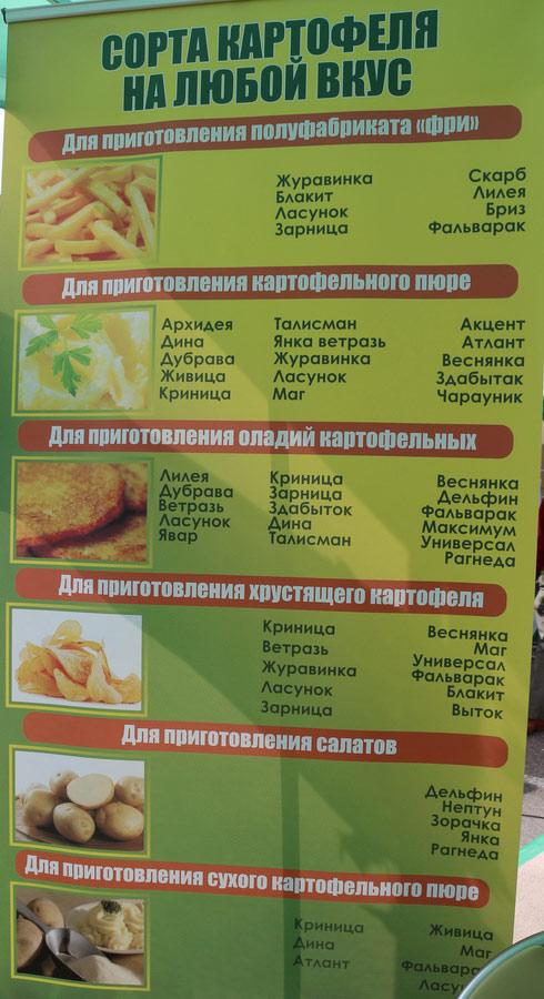 НПЦ по картофелеводству и плодоовощеводству на БЕЛАГРО-2016. Сорта картофеля на любой вкус