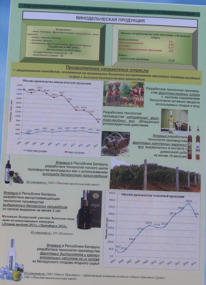 Научно-практический центр Национальной академии наук Беларуси по продовольствию. Винодельческая продукция