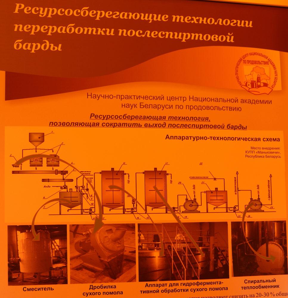 Научно-практический центр Национальной академии наук Беларуси по продовольствию. Ресурсосберегающие технологии переработки послеспиртовой барды